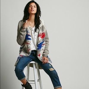Free People Fire Works Sweater Coat